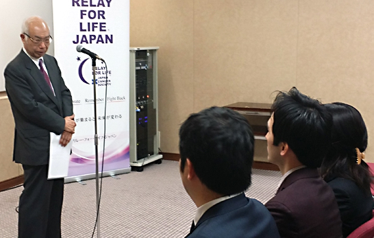 日本対がん協会を代表して会長の垣添忠生氏より、受賞者への期待の言葉