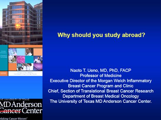 「留学研修をする意義Why should you study abroad?」講演スライド