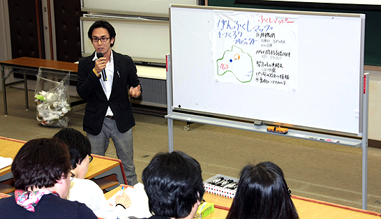 各グループの発表「震災とがんをテーマにしたプロジェクト」