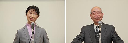 リレー・フォー・ライフ・ジャパンを代表して坂下千瑞子氏、日本対がん協会会長垣添忠生氏より、受賞者への期待の言葉