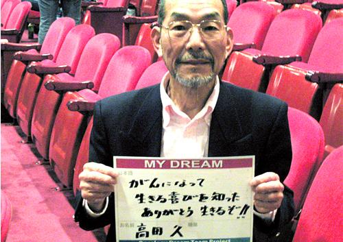 がんになって生きる喜びを知った。ありがとう。生きるぞ!! 高田 久さん 無職